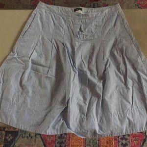 J crew 100% cotton pleated skirt sz 10